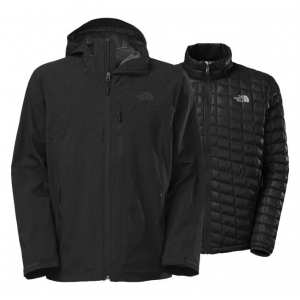North Face ThermoBall Triclimate Jacket - Men's large - dk. grey