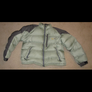 Mountain Hardwear SUB ZERO DOWN JACKET Women's LARGE L Green Nice
