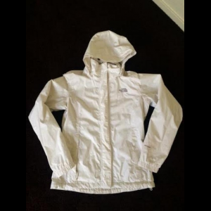 Women's White North Face Rain Jacket