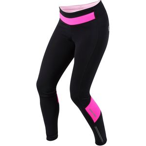 Elite Cycling Thermal Tight - Women's Black/Screaming Pink, L - Excell