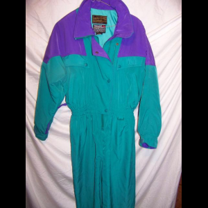 Vintage Eddie Bauer Insulated One Piece Snow Ski Suit, Women's 8