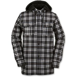 Field Bonded Flannel Shirt - Long-Sleeve - Men's Black White, M - Exce