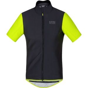 Power WindStopper Softshell Jersey - Short-Sleeve - Men's Black/Neon Y