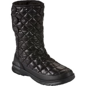 Thermoball Button-Up Boot - Women's Shiny Tnf Black/Smoked Pearl Grey,