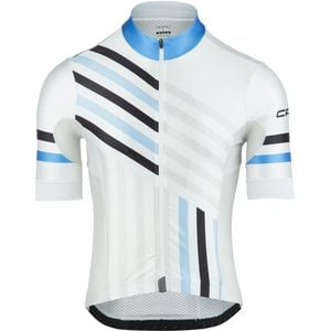 GS Jersey - Short Sleeve - Men's White/Cyan, S - Excellent
