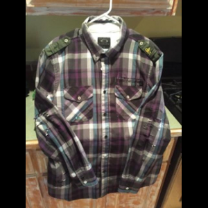 Oakley Large Flannel Danny Kass Signature 100% Polyester Long Sleeve