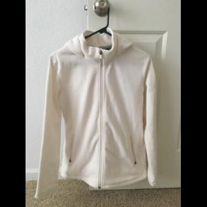 Merrell hooded fleece jacket - cream