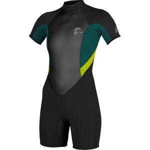 Bahia S/S Spring Wetsuit - Women's Black/Deep Teal/Lime, 4 - Excellent
