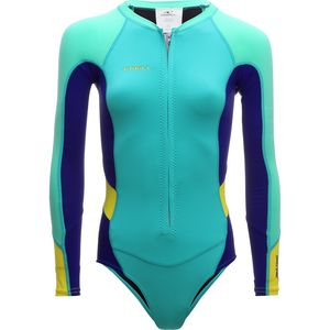 Superlite Hi-Cut Long-Sleeve Spring Wetsuit - Women's Light Aqua/Coba