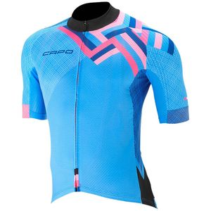 Candy X SL Jersey - Short Sleeve - Men's Cyan, S - Excellent