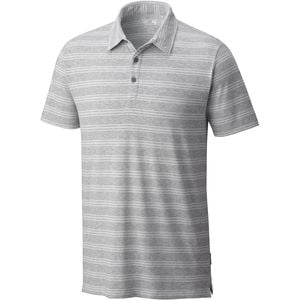 ADL Striped Polo Shirt - Men's Heather Manta Grey, XL - Excellent