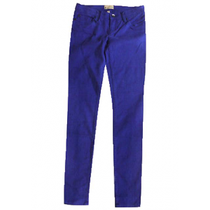 New Roxy Sunburners Denim Pants Electric Blue Size 11/30