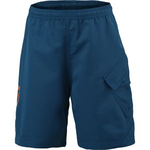Trail 20 Short with Pad - Boys' Eclipse Blue/Tangerine Orange, L - Exc
