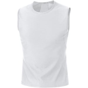 Base Layer Singlet - Sleeveless - Men's White, XL - Good