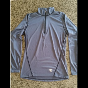 Mountain Hardwear Tech Long Sleeve Zip T - Men's Small - Like New