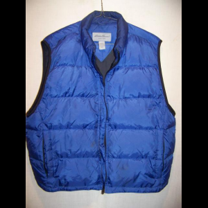 Eddie Bauer Down Vest, Mens Large