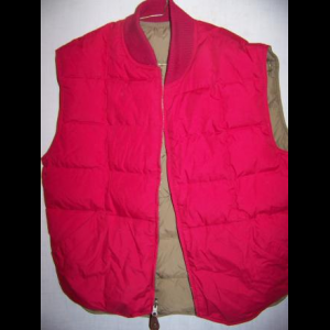 Vintage Eddie Bauer Reversible Down Vest, Medium