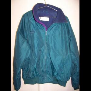 Columbia Fleece Lined Windbreaker Jacket, Large