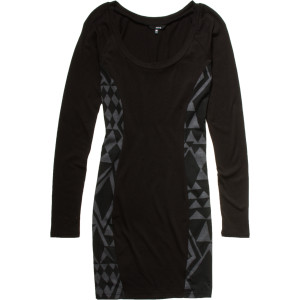Carmine Dress - Long-Sleeve - woman's Black, M - Excellent