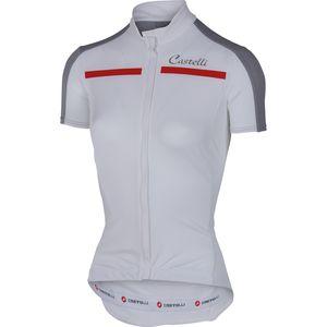 Ispirata Full Zip Jersey - Short Sleeve - Women's White/Grey, M - Good