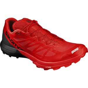 s-lab sense 6 sg trail running shoe - men's racing red/black/white, us- Save 9.% Off - S-Lab Sense 6 SG Trail Running Shoe - Men's Racing Red/Black/White, US