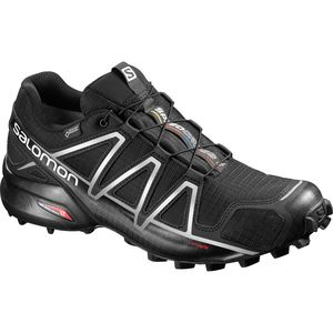 speedcross 4 gtx trail running shoe - men's black/black/silver metalli- Save 10% Off - Speedcross 4 GTX Trail Running Shoe - Men's Black/Black/Silver Metalli