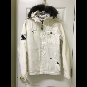 snowboard jacket, the white collection brand, mens small- Save 14% Off - Snowboard Jacket, The White Collection brand, Mens Small