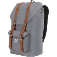 Little America 25L Backpack Grey/Tan Synthetic Leather, One Size - Excellent