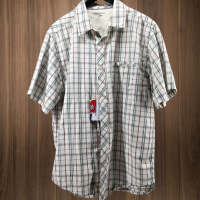 Horny Toad shortsleeve plaid button up