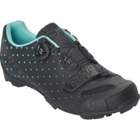 MTB Comp BOA Lady Cycling Shoe - Women's Matte Black/Turquoise Blue, 40.0 - Good