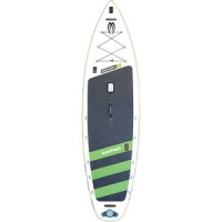 Badfisher Inflatable Stand-Up Paddleboard White/Green, 11ft 6in - Good