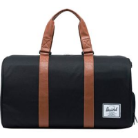Novel 42.5L Duffle Black/Tan Synthetic Leather, One Size - Excellent