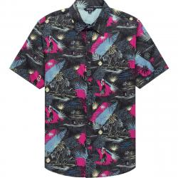 Stoic Hula Girl Print Short-Sleeve Button-Down Shirt - Men's