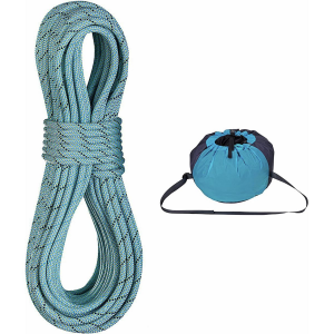 Edelrid Anniversary Pro Dry DT Climbing Rope with Caddy Lite Rope Bag 9.7mm