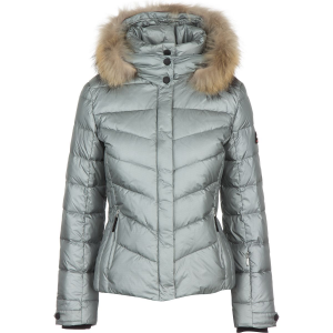 Bogner Fire+Ice Sally Lightweight Metallic Ripstop Jacket with Fur Women's