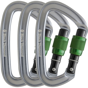 Black Diamond Positron Screwgate Carabiner 3 Pack