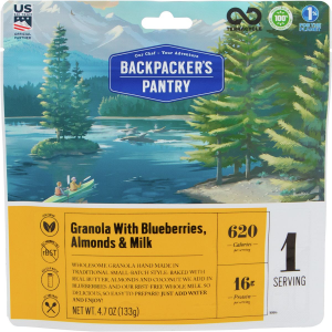 Backpacker's Pantry Granola with Blueberries & Milk