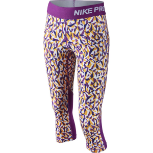 Nike Pro Cool Allover Print Tights 3/4 Length Girls'