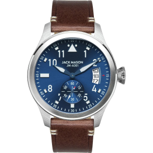 Jack Mason A301 Aviation Collection Leather Watch