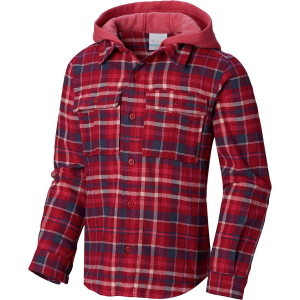 Columbia Boulder Ridge Flannel Long-Sleeve Hooded Shirt - Girls'