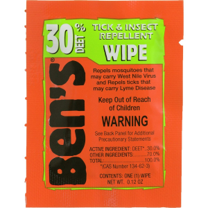 Image of Adventure Medical Ben's 30 Deet Tick & Insect Repellent Field Wipe - 12 Pack