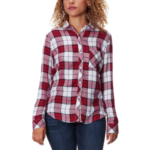Rails Hunter Scarlet/White/Sky Long-Sleeve Button Up - Women's