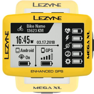 Lezyne Mega XL Limited Yellow Edition GPS Bike Computer
