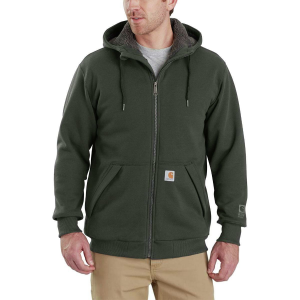 Carhartt Rain Defender Rockland Sherpa-Lined Full-Zip Hooded Sweatshirt - Men's