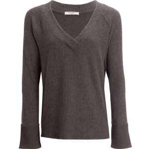 Project Social T Shea Ribbed Cozy V-Neck Top - Women's
