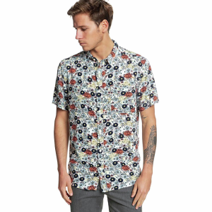 Quiksilver Fluid Geometric Button-Down Shirt - Men's