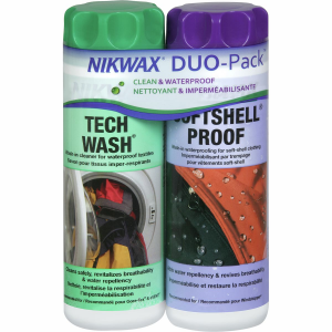 Nikwax Tech Wash and Softshell Proof Wash In Duo Pack 300 ml