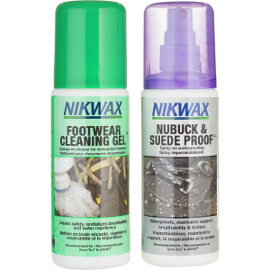 Nikwax NubuckSuede and Cleaning Gel Duo Pack 125ml Spray