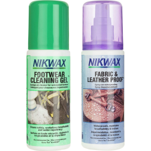 Nikwax Fabric/Leather Proof and Cleaning Gel Duo Pack 125mL Spray