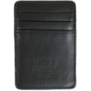 Herschel Supply Raven Leather Card Holder Wallet Men's